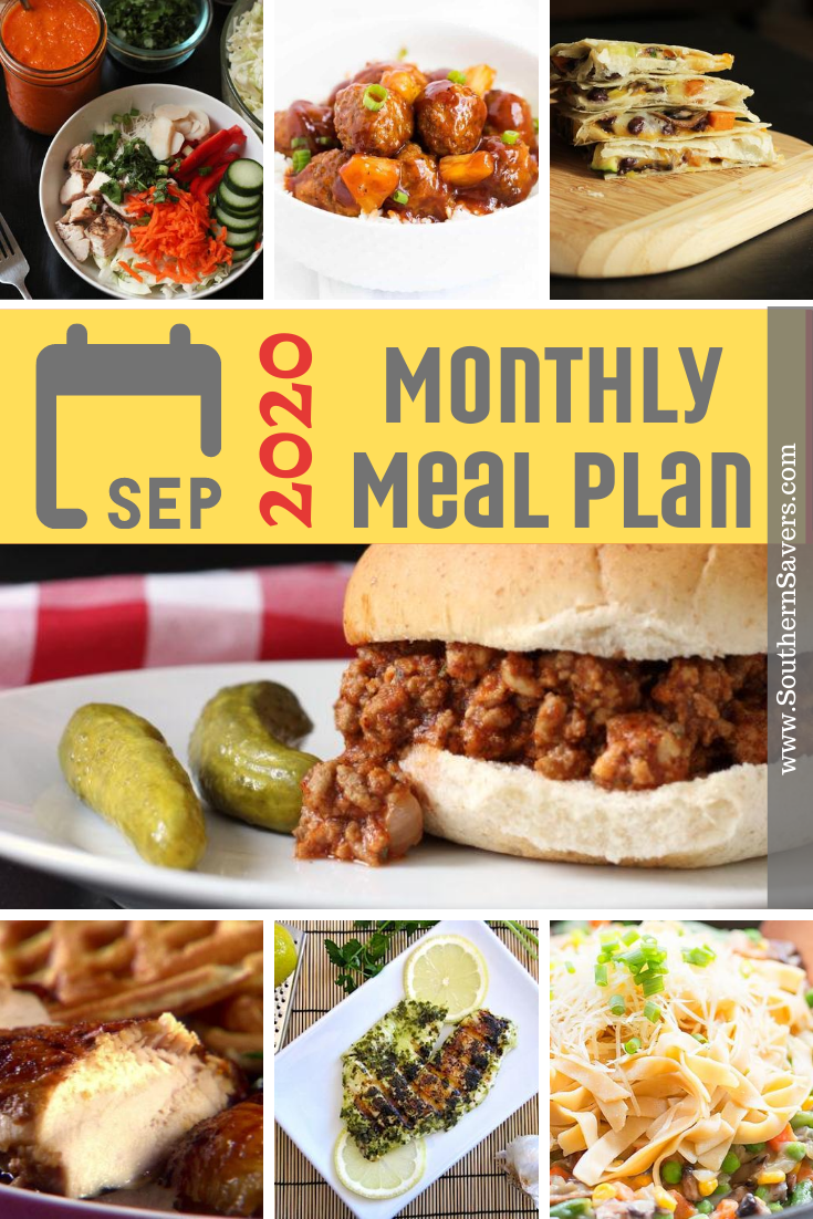 Fall is on the way, and even though this year has been crazy, we still have to make dinner. This September 2020 monthly meal plan has you covered!