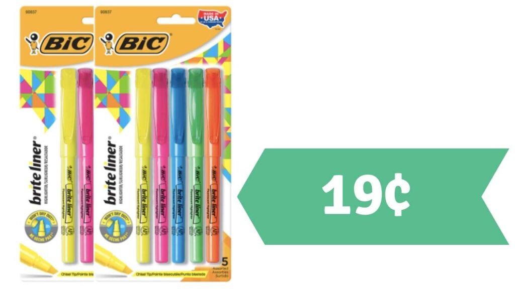 bic hightlighters