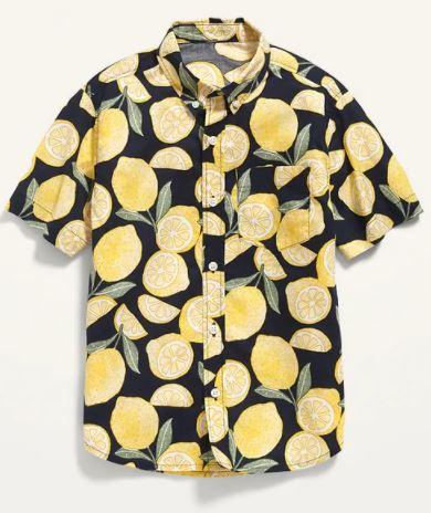 yellow lemons shirt