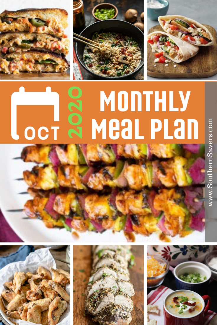 Fall is in the air, which for many means schedules getting busier. Use our monthly meal plan to be intentional about your shopping and cooking!