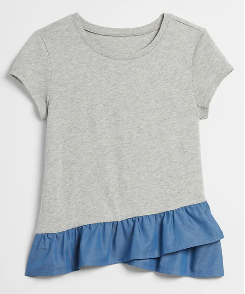 gap ruffle hem girls shirt