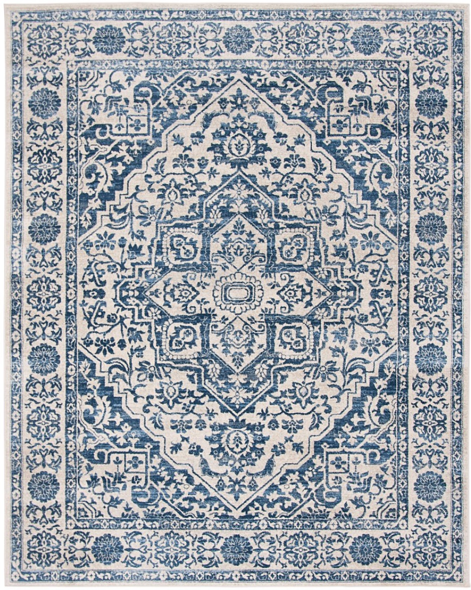 blue and grey rug