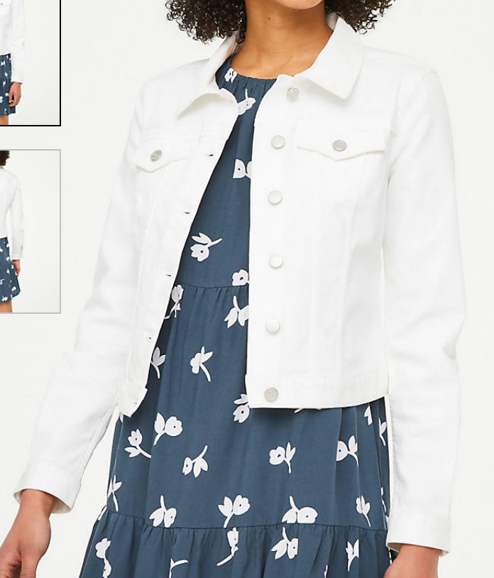 loft white denim jacket