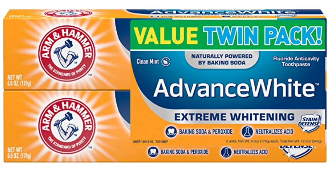 arm and hammer toothpaste twin pack