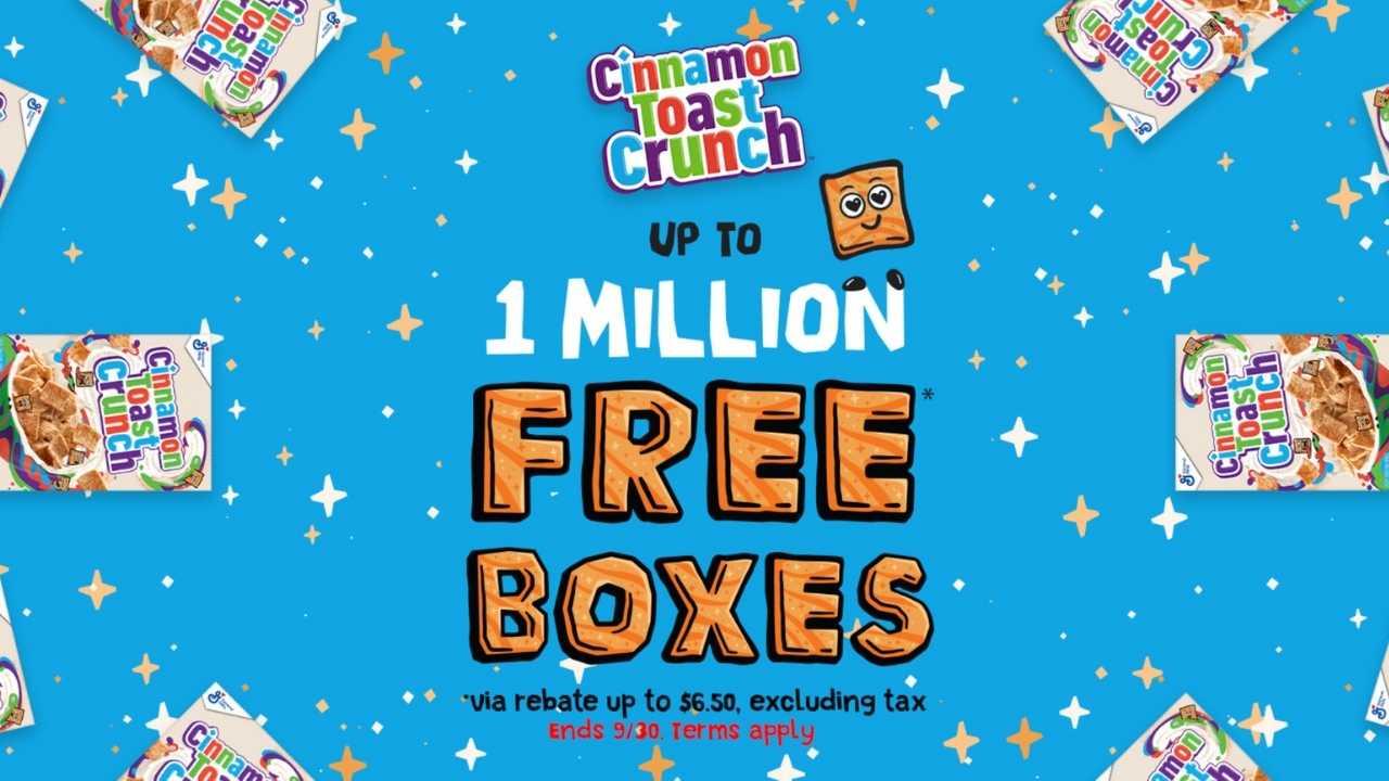 free cinnamon toast crunch