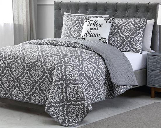 gray quilt set