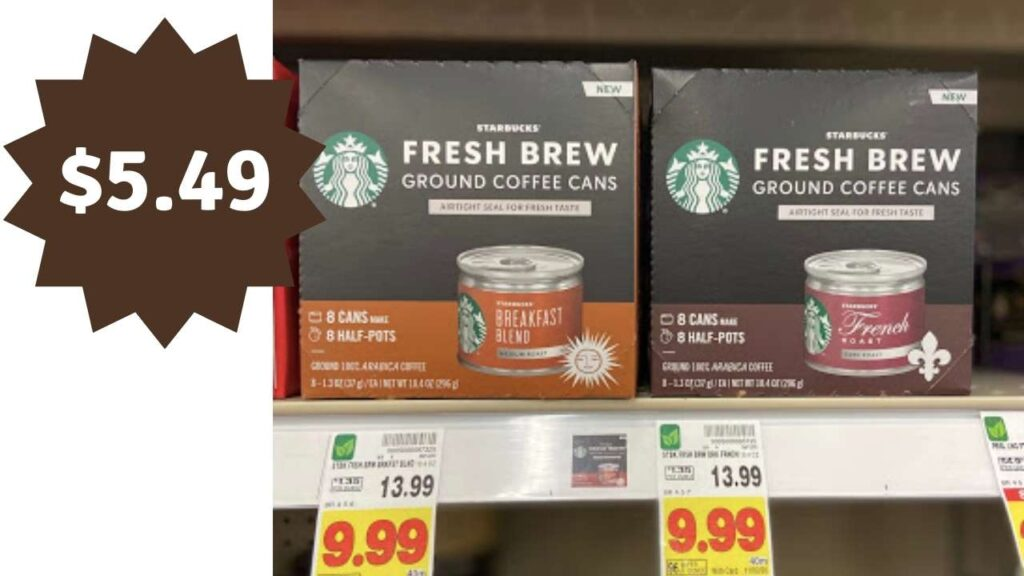 starbucks fresh ground coffee cans