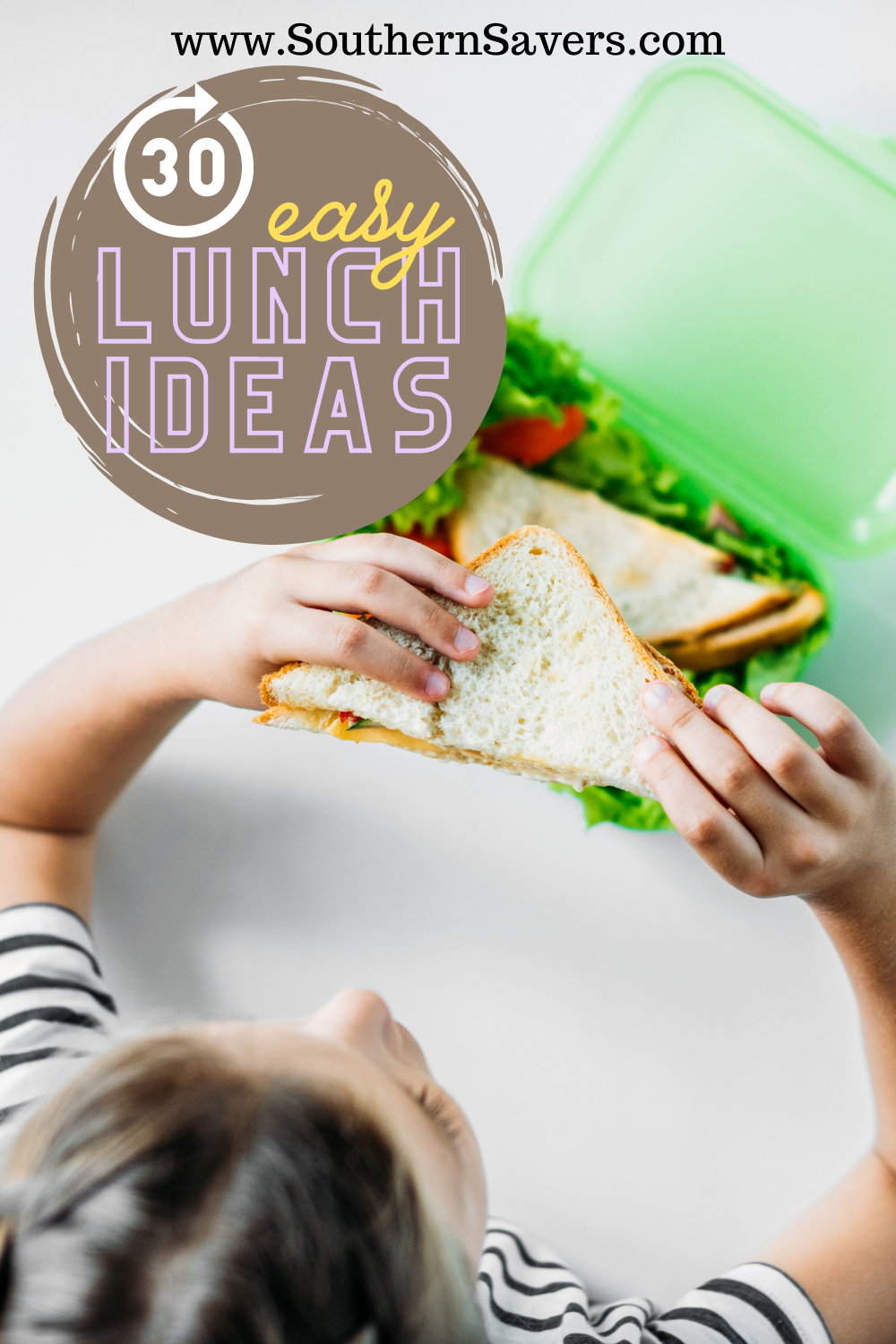 It's easy to get stuck in a rut with lunch, so here are 30 easy ideas to inspire you if you're tired of eating the same old things!