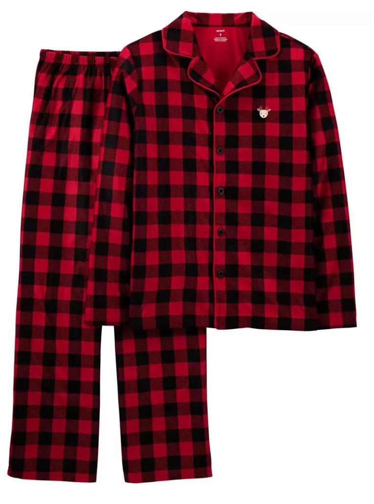 plaid matching pajamas