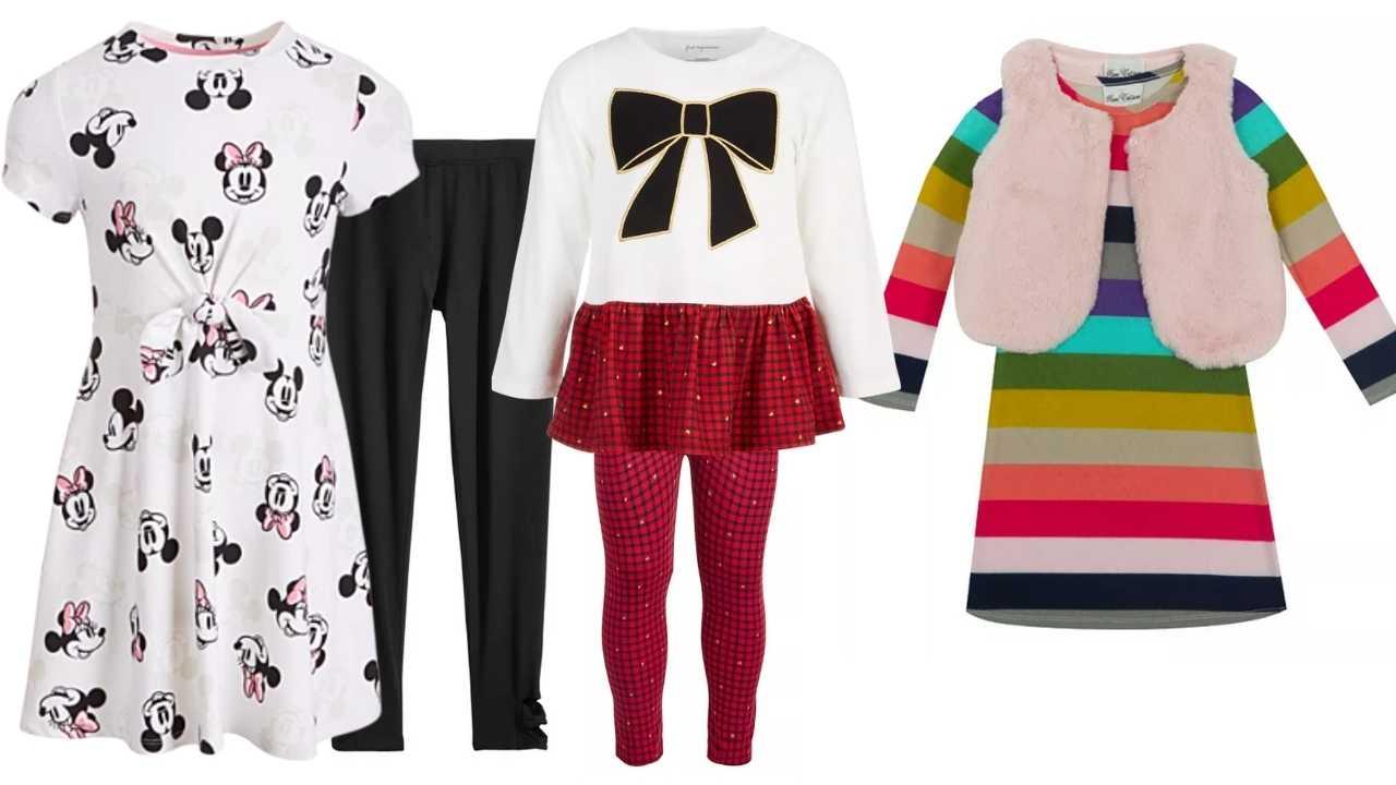 macys girls dresses and leggings