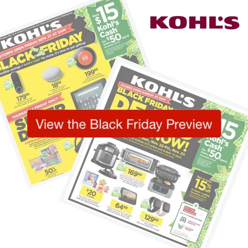 2020 Kohl S Black Friday Ad Preview Southern Savers