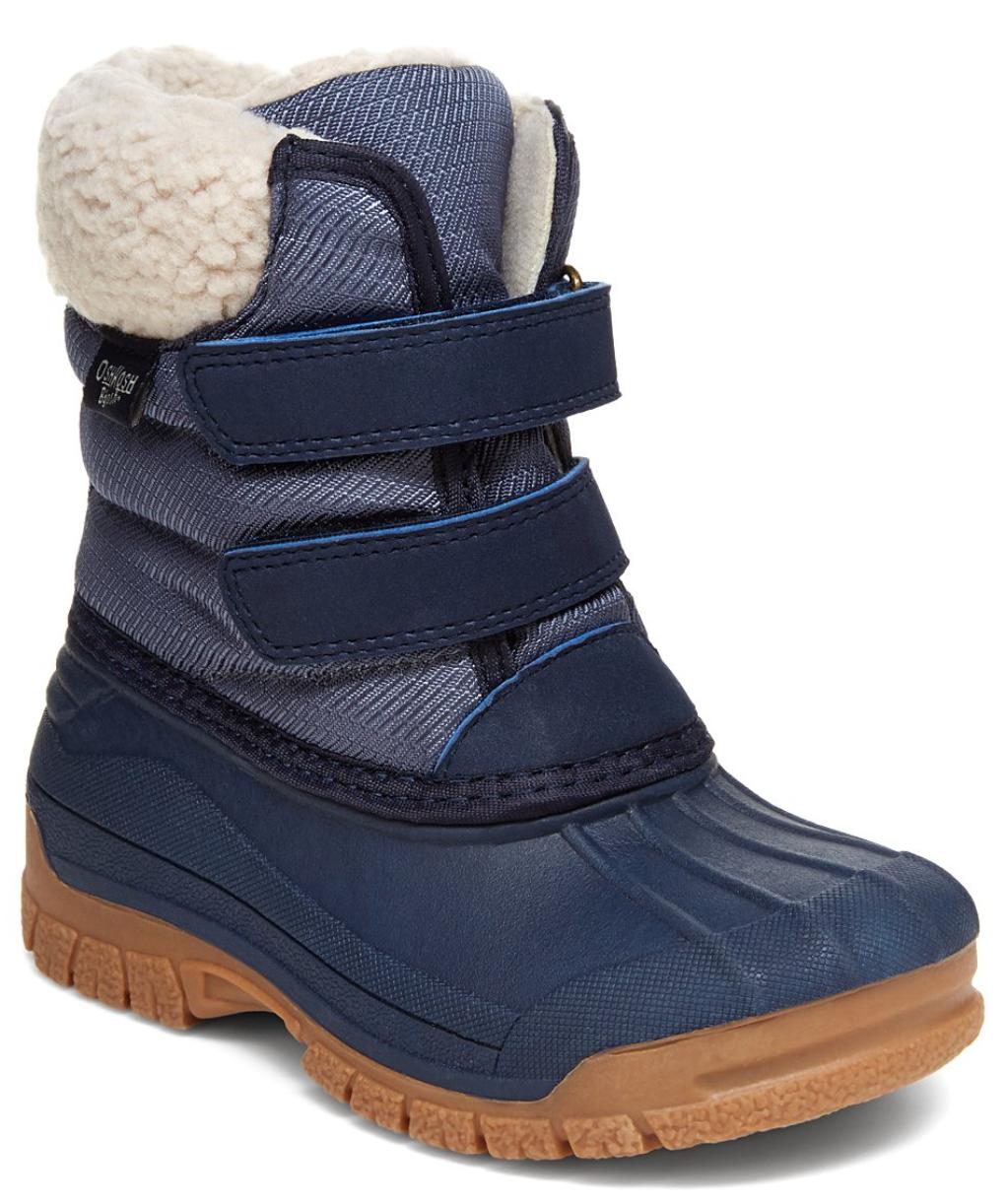 navy snow boots