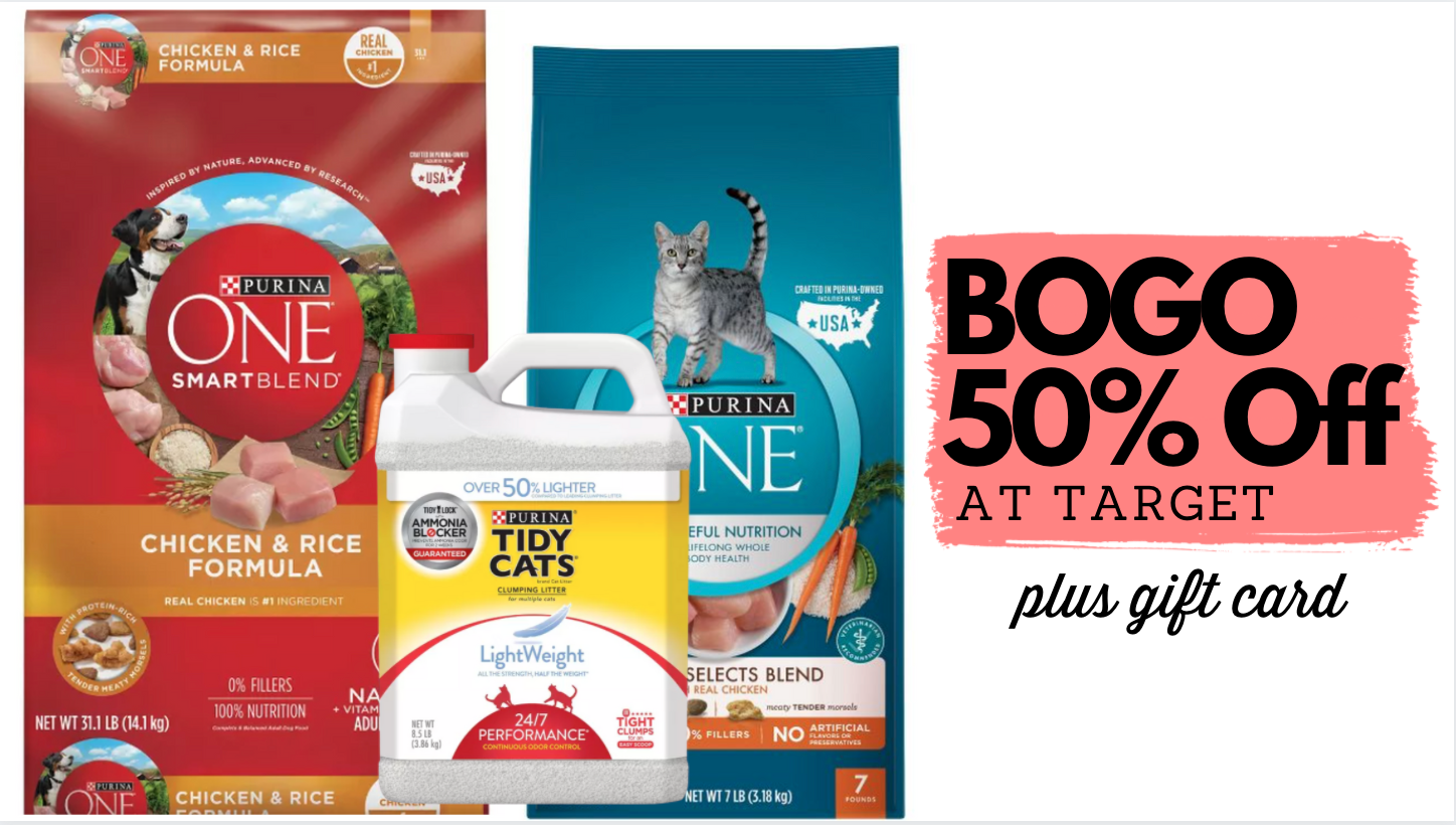 target dog food cat food litter