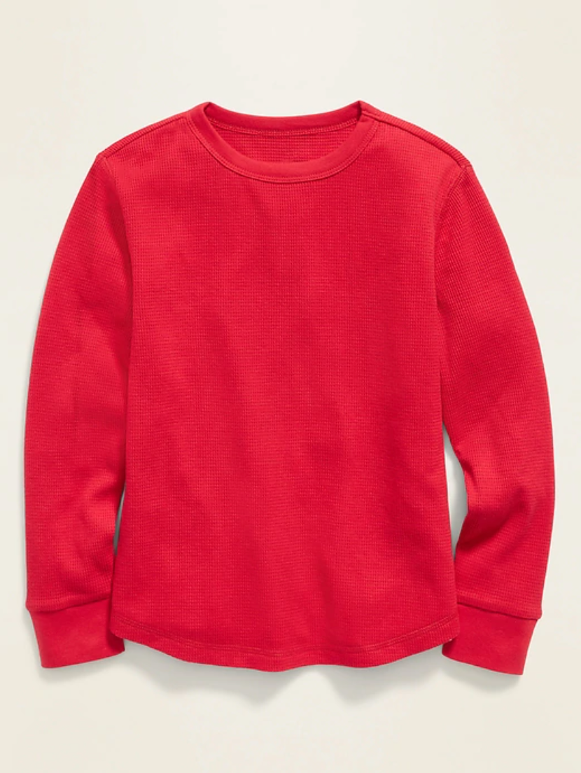 thermal knit tee