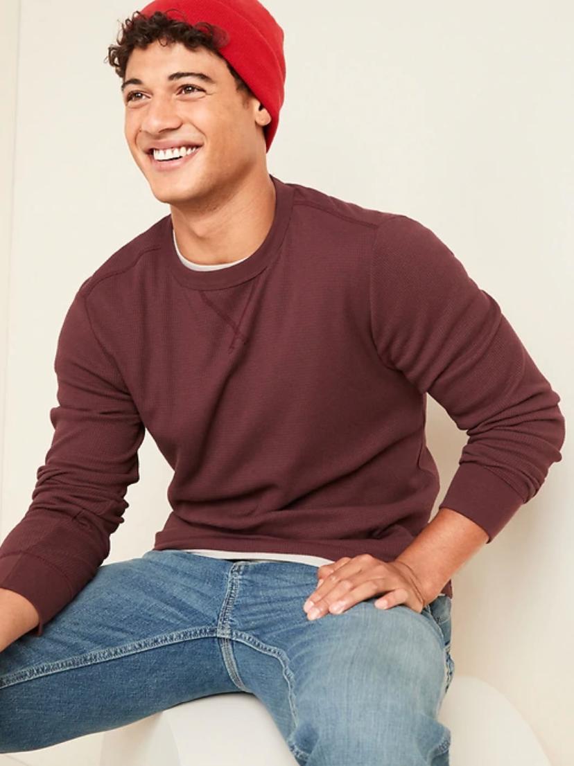 mens's thermal knit