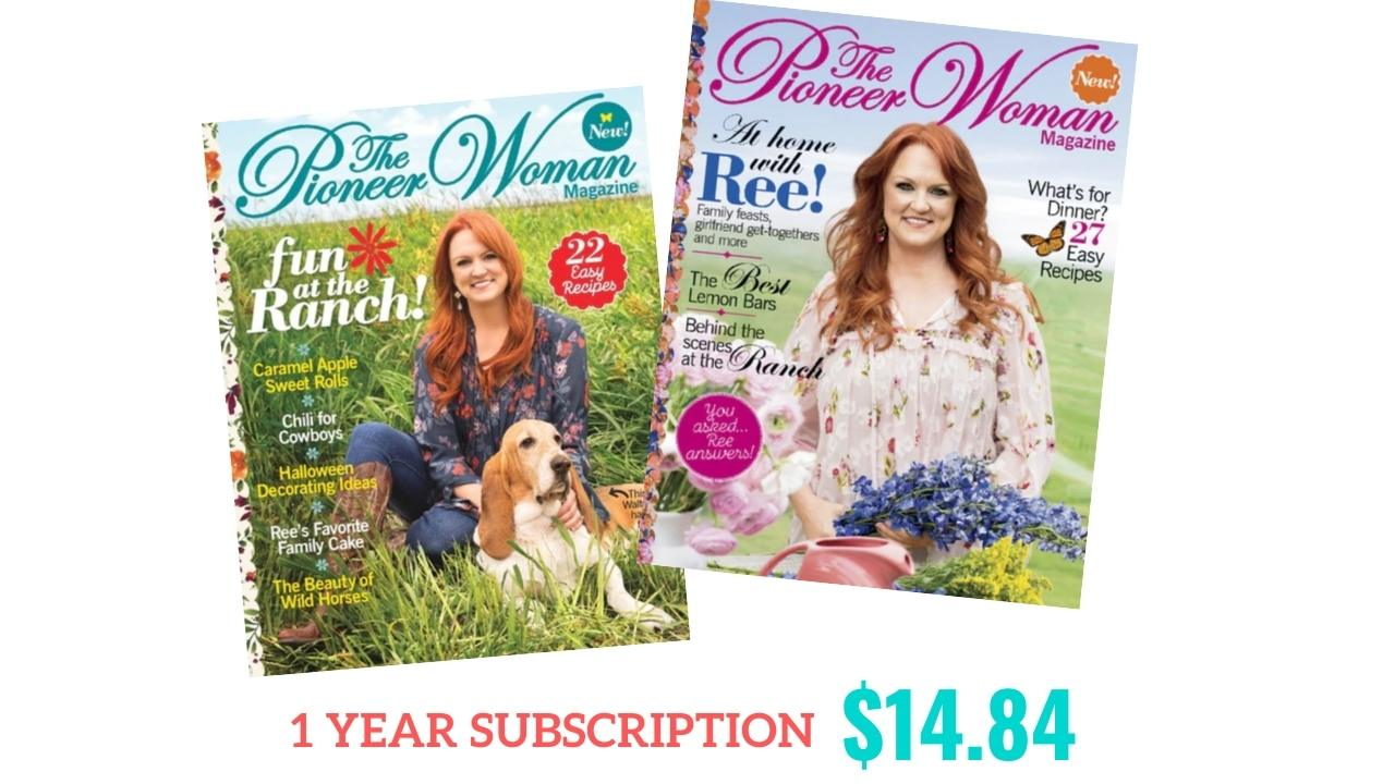 Pioneer Woman Magazine Subscription, $14.84