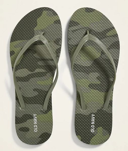 camoflage flip flops