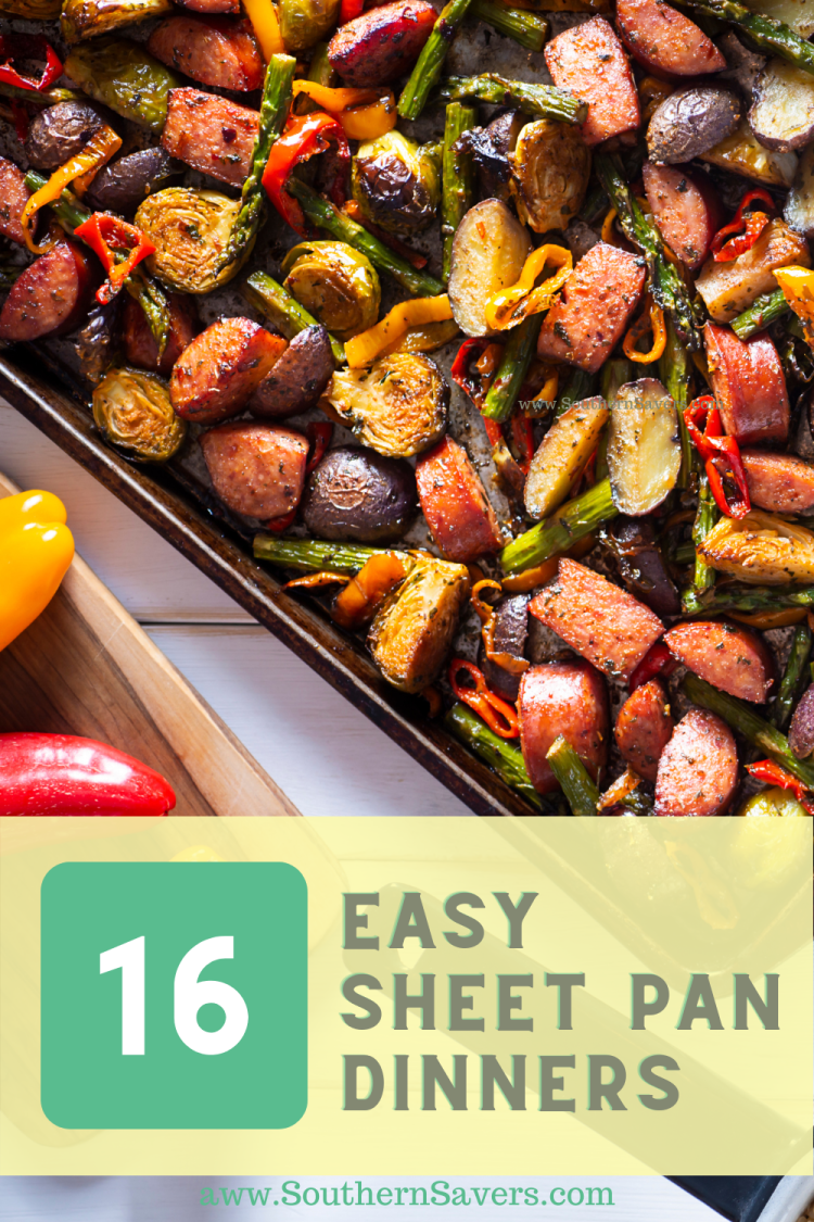 These 16 easy sheet pan dinners are not only delicious, but they are a great way to minimize cooking mess in the kitchen!