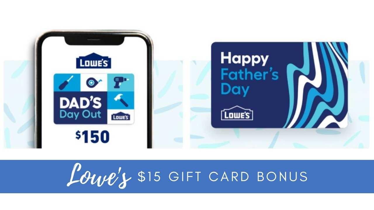 lowe's gift card bonus