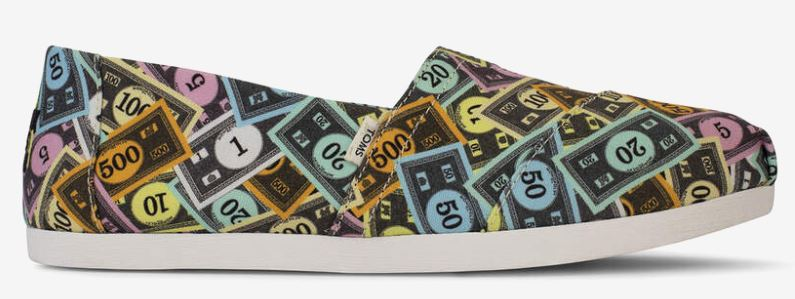 toms monopoly shoes