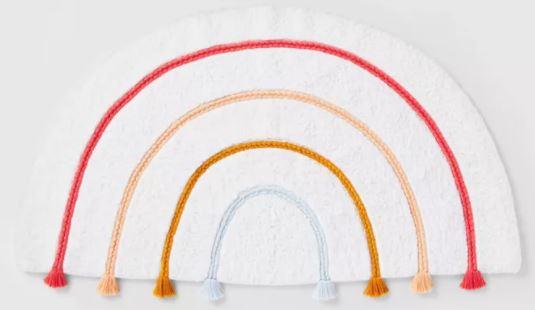 rainbow bath rug
