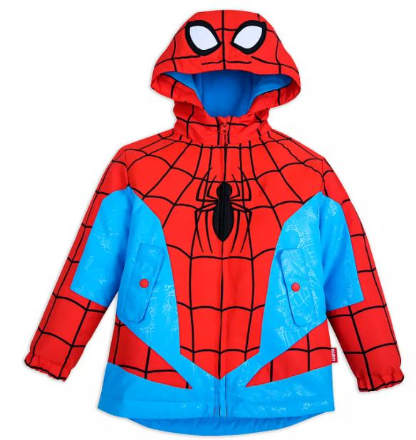 spiderman rain jacket