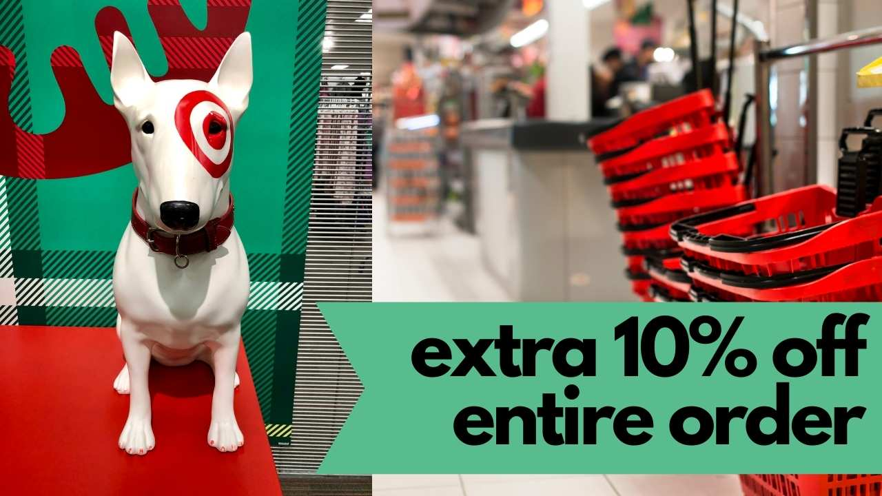 target extra 10% off entire order
