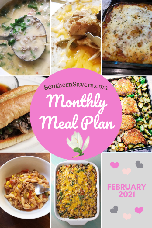 Take the guesswork out of meal planning and let us do the grunt work! here are 28 meals for February, all in a convenient monthly meal plan printable.