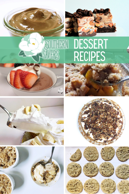 We love desserts at our house, so here is a round up of all of our favorite Southern Savers dessert recipes, all in one place!