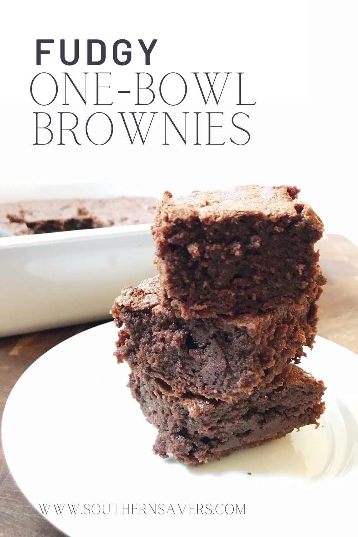 one-bowl brownies pinterest