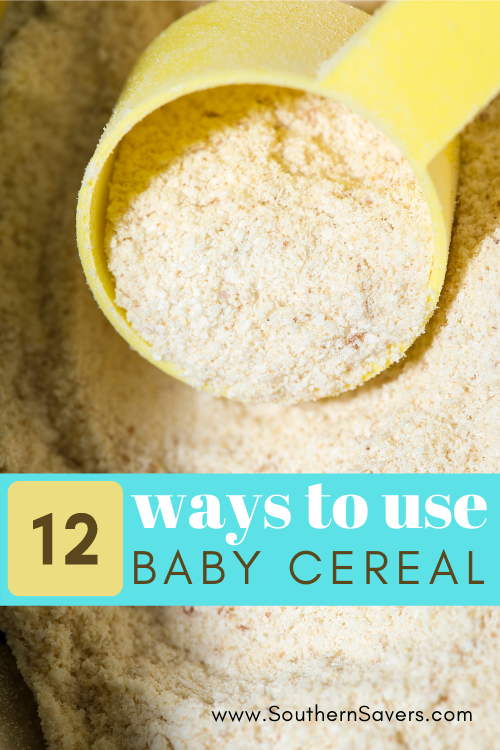 If you have leftover baby cereal in your pantry, try one of these 12 ways to use baby cereal, from banana bread to play dough!
