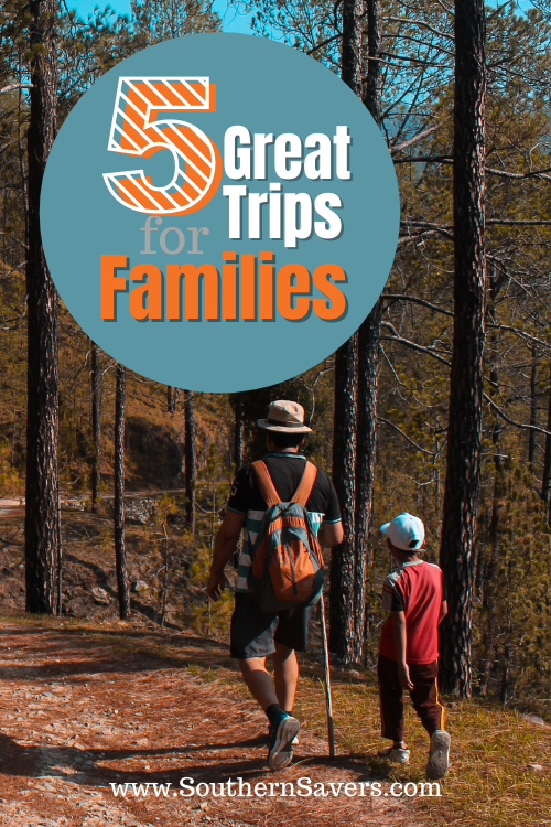 We're always up for a fun trip to a new place. Here are 5 great trips for families in a variety of locations, with lots of ways to keep it frugal.