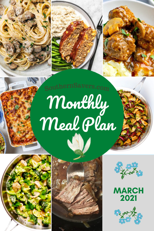 Spring is in the air, and with a new month and warmer weather, meal planning is just as helpful as always. Here is a monthly meal plan for March!