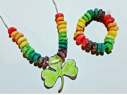 froot loop rainbow necklaces