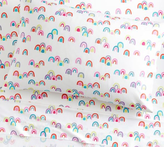 rainbow sheet set