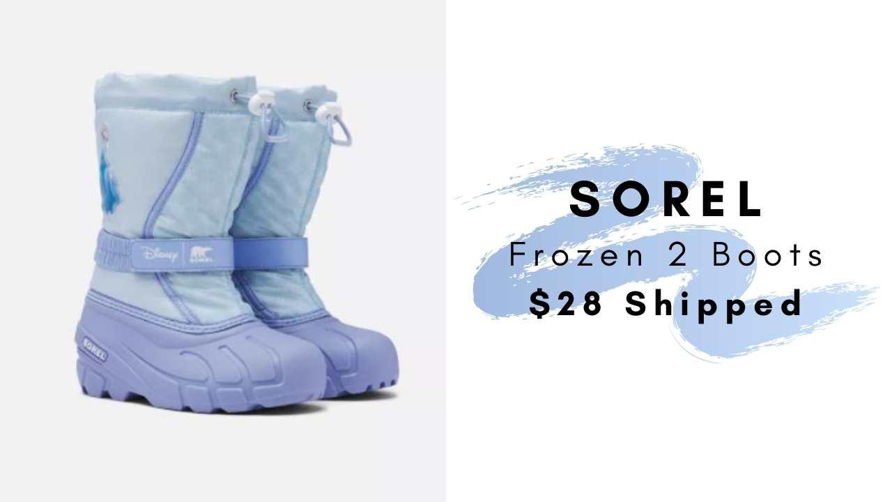 sorel frozen 2 boots