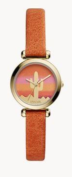 tillie leather strap watch