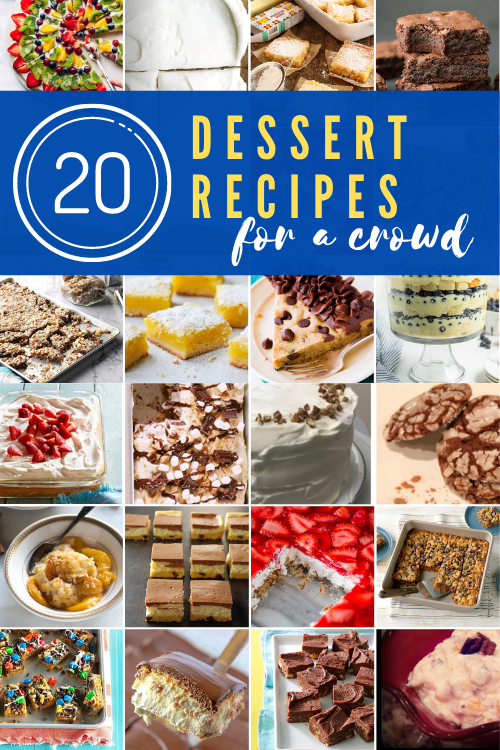If you're hosting a large group, you may not want to make a complicated dessert.. These 20 dessert recipes for a crowd are simple and delicious!