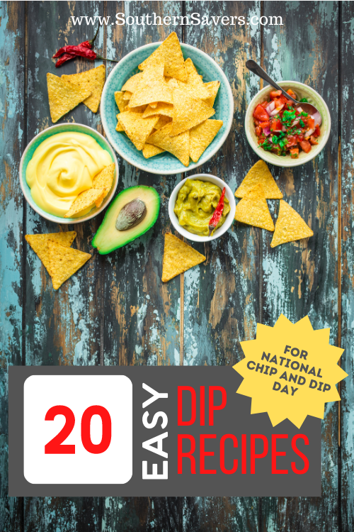 Celebrate National Chip and Dip Day (March 24) this year with this list of 20 delicious and easy dip recipes, from sweet to savory!