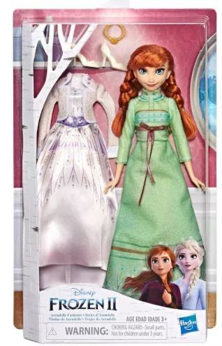 frozen 2 anna doll with two outfits
