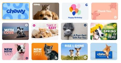 chewy egift cards