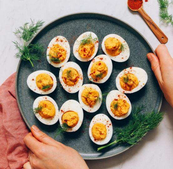mayo free deviled eggs