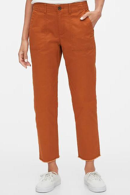 orange khakis