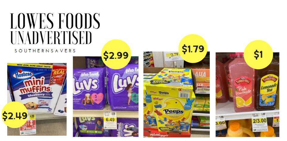 lowes foods unadvertised