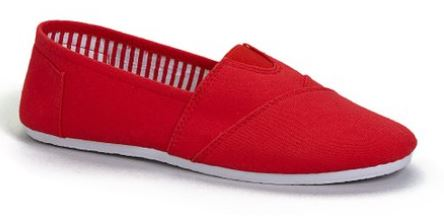 kids red slip on shoes