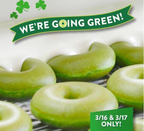krispy kreme green doughnuts