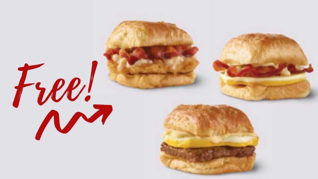 free breakfast croissant