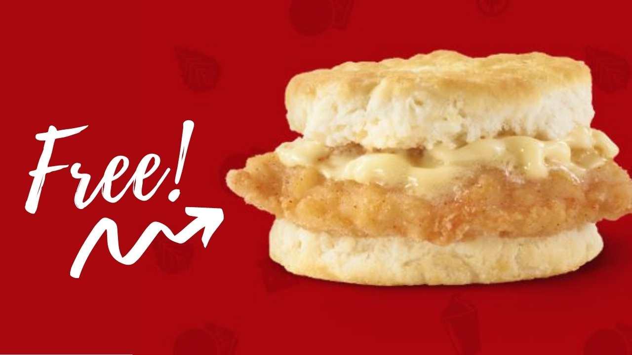 wendy's free breakfast biscuit