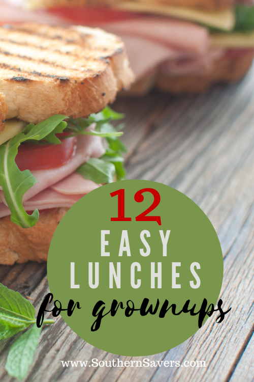 If you're eating lunch at home but don't want boxed mac and cheese or chicken nuggets, try one of these 12 easy lunches for grownups!