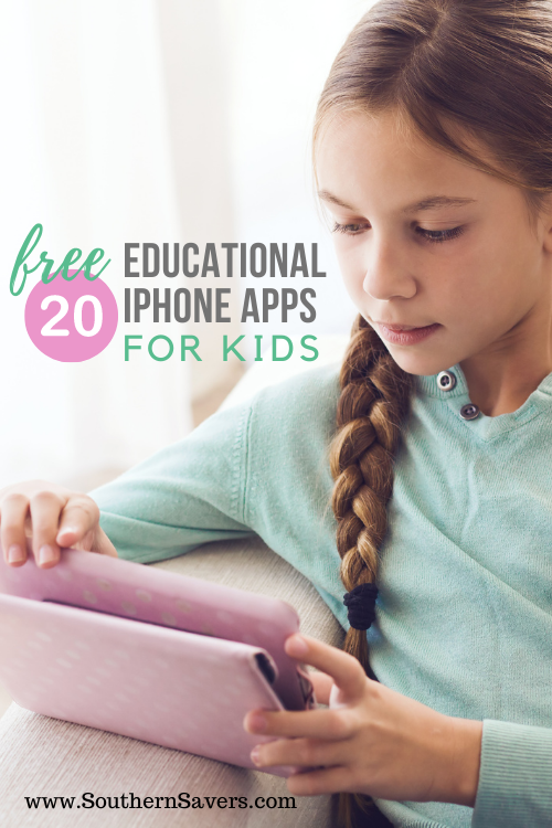 If you want your kids to learn something while having screen time, try one of these 20 free educational iPhone apps for kids!